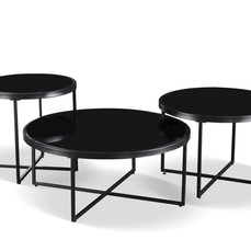BLACK NESTED COFFEE TABLES