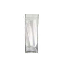 GLASS SQUARE VASE (10cm x 29.5cm)