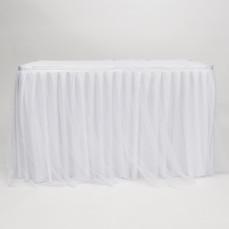 TULLE SATIN TABLE SKIRT (WHITE)