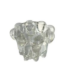 MOULDED GLASS CANDLE HOLDER