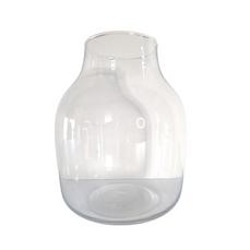 WIDE GLASS VASE (25cm x 20cm)