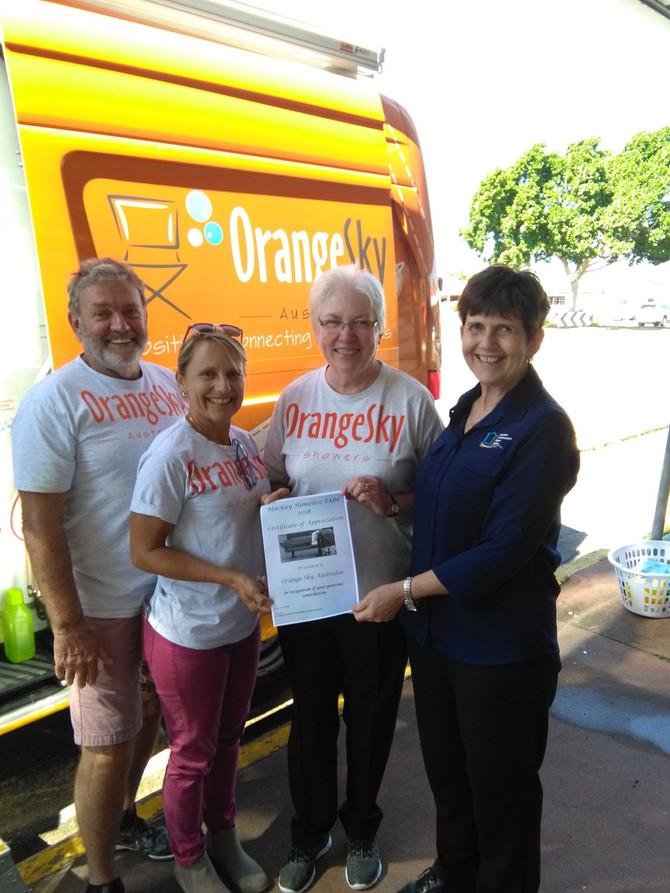 Orange Sky Homeless Appreciation Certificate
