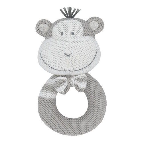 MAX THE MONKEY KNITTED RATTLE