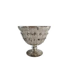 SILVER GOBLET VASE (14cm x 15cm)