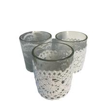 GLASS & LACE TEALIGHT