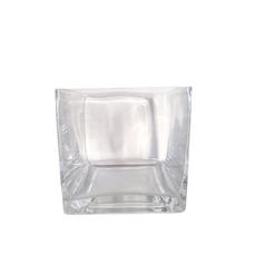 GLASS SQUARE VASE (15cm x 15cm)