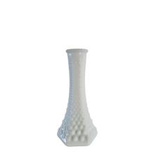 WHITE GLASS VASE PATTERN 7 (15cm)