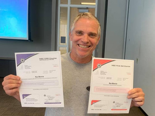 Two more staff First Aid/CPR/AED Certified