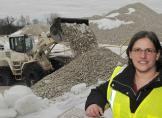 Julie Savitt is driving her ex-husband's construction business out of the rubble