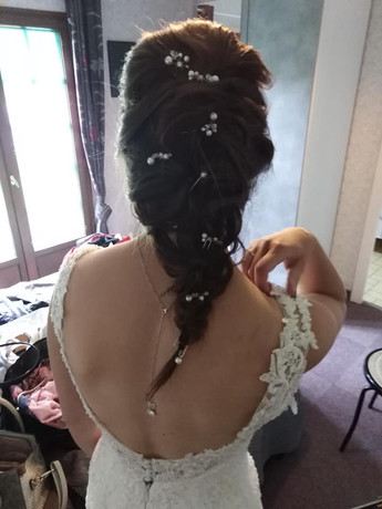 Coiffure mariée, tresse étiolée