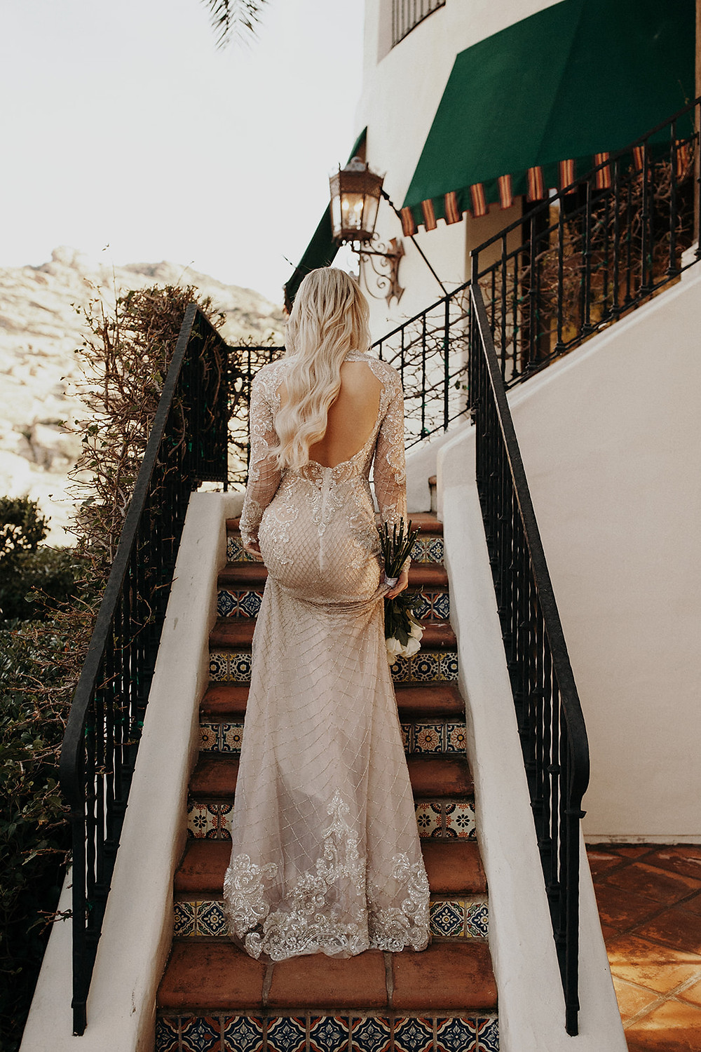 Back of Bridal Gown