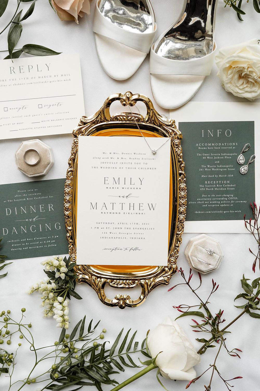 Indianapolis Wedding Invitation