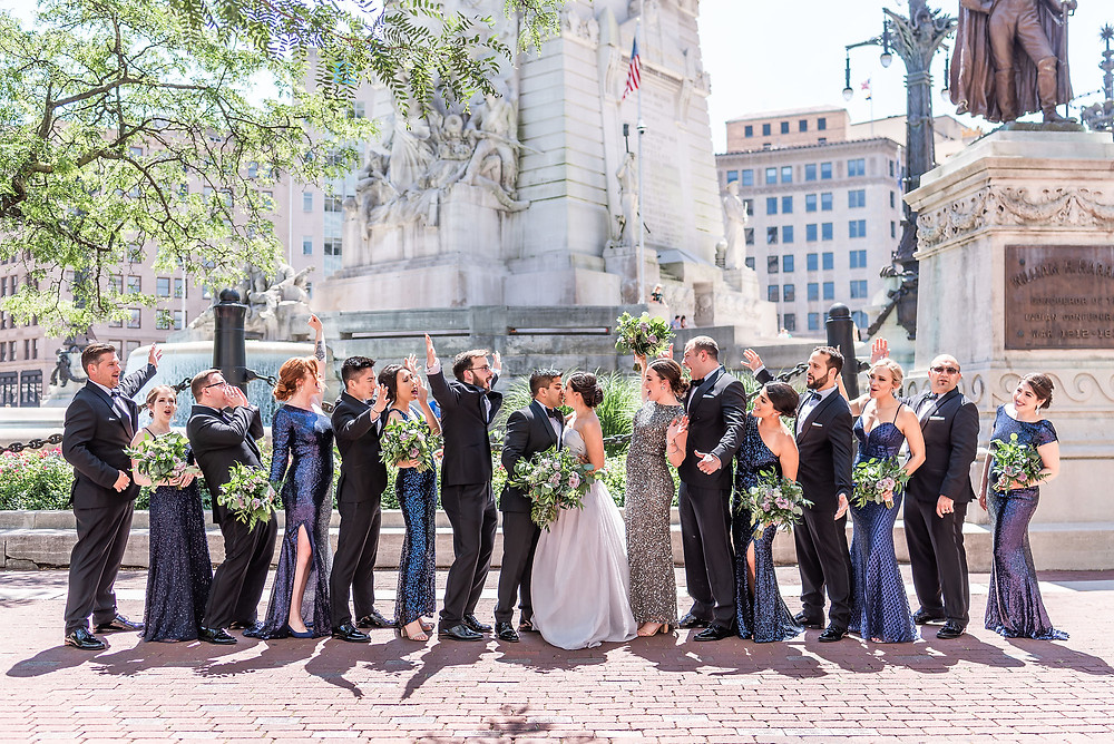 Monument Circle Wedding Party