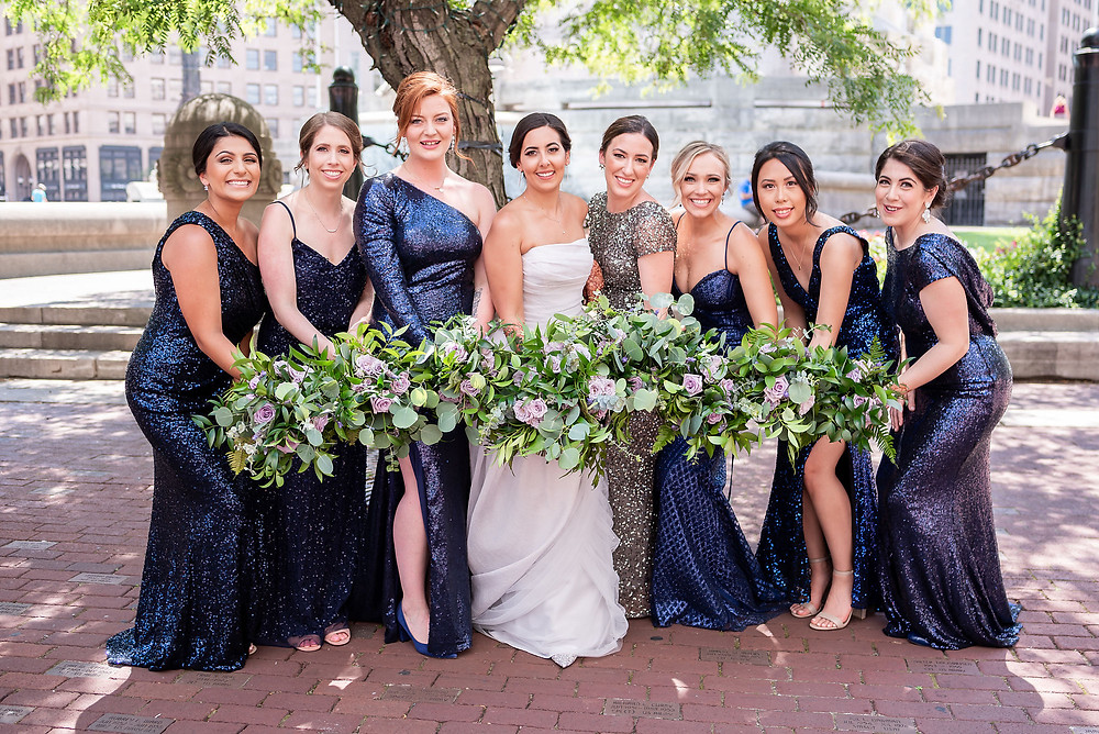 Indianapolis Bride and Bridesmaids