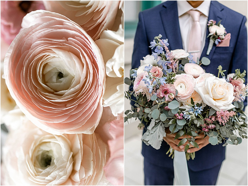 Groom Holding Bouquet