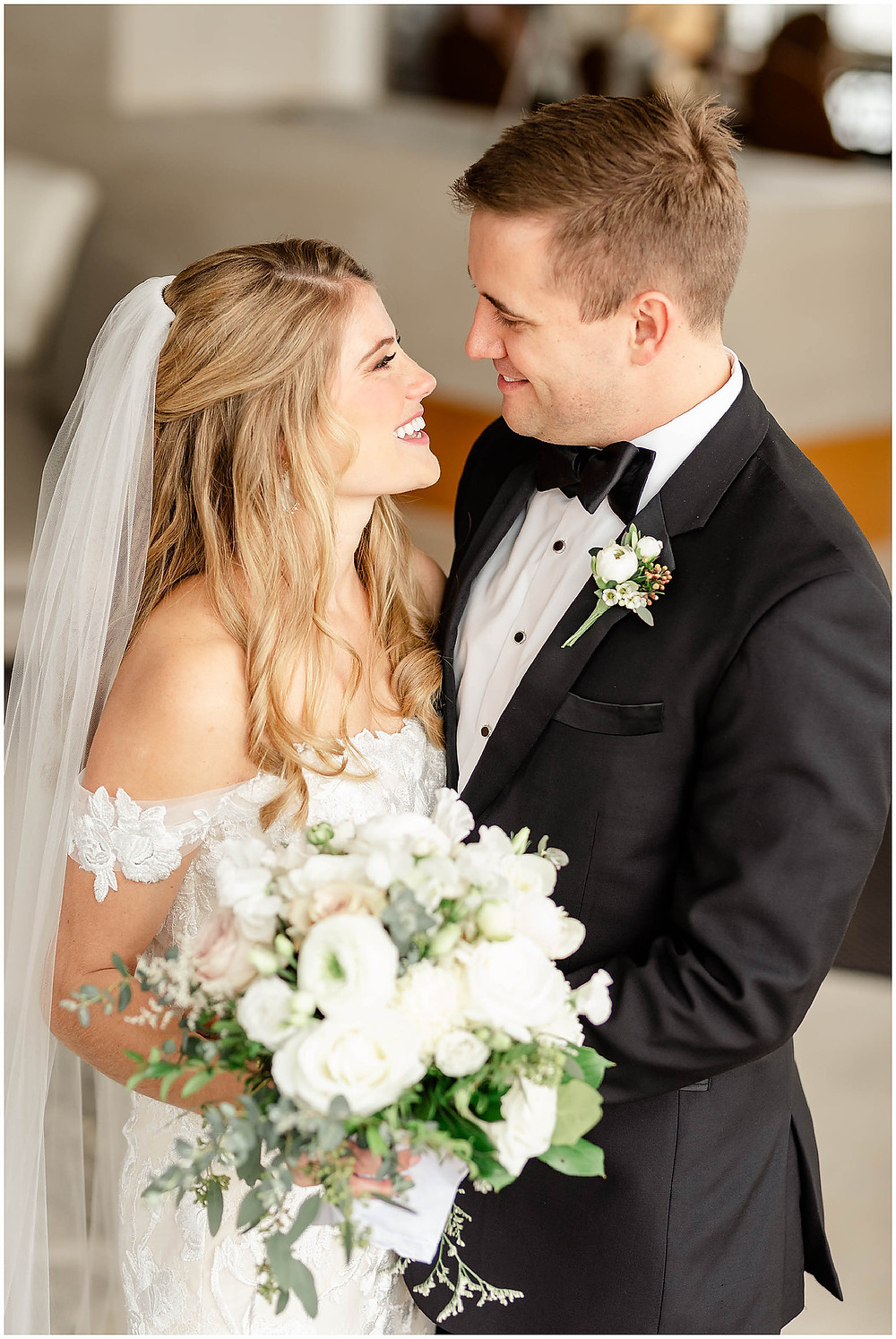 Blissful bride and groom