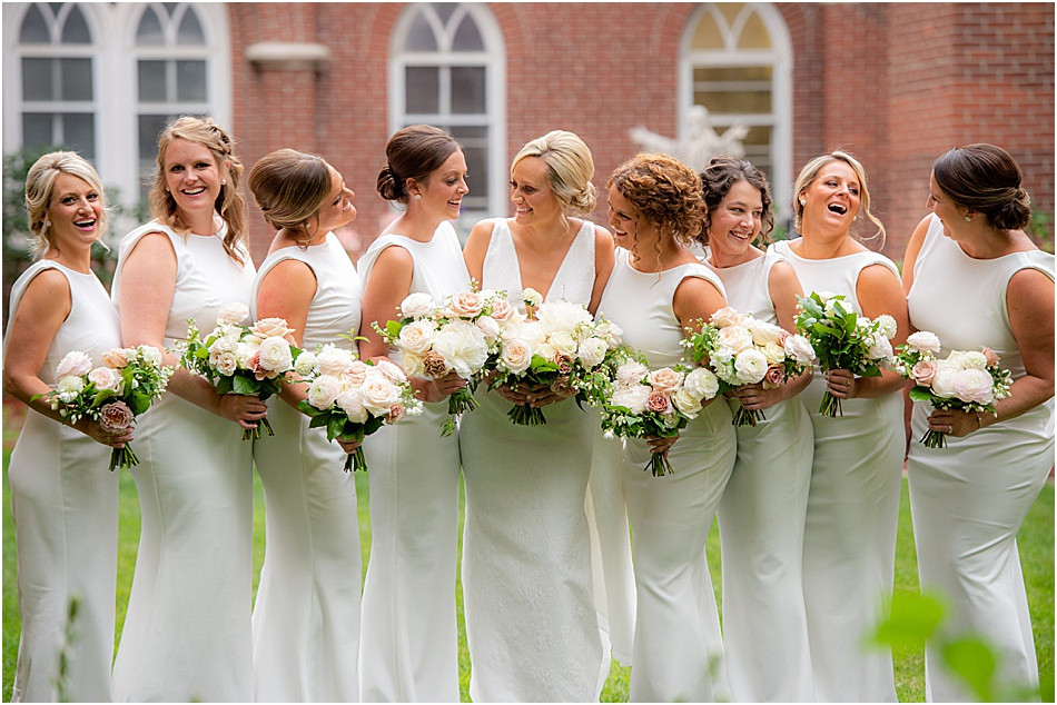 All White Bridal Party