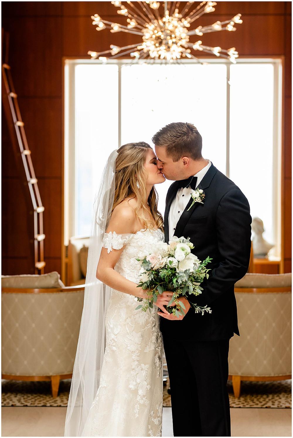 Conrad Hotel Owner's Suite Bride & Groom Portrait