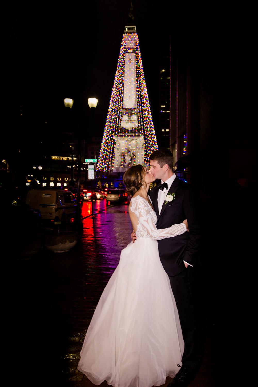 Circle of Lights Wedding Photo