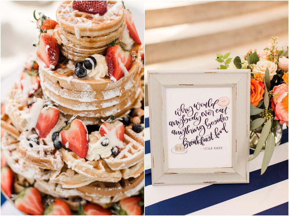 Wedding Waffle Cake