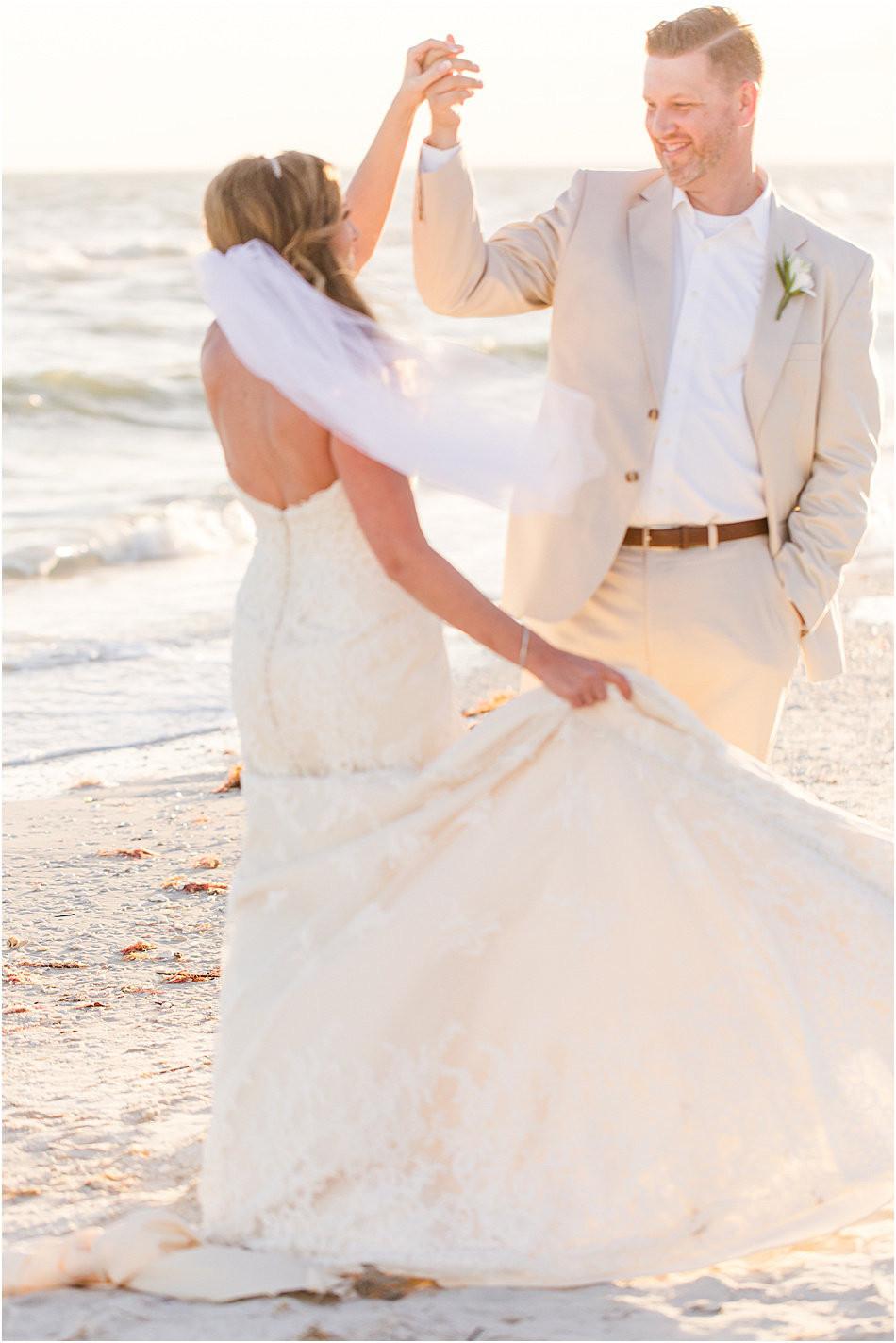 Sunset Beach Wedding Photo