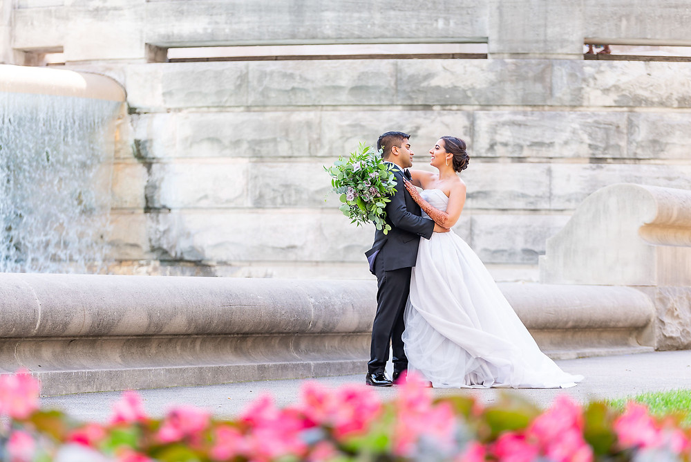 Monument Circle Wedding Picture