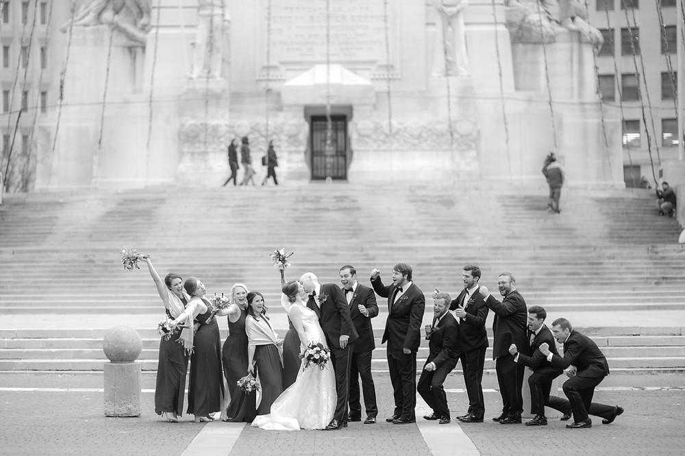 Monument Circle Wedding Photo