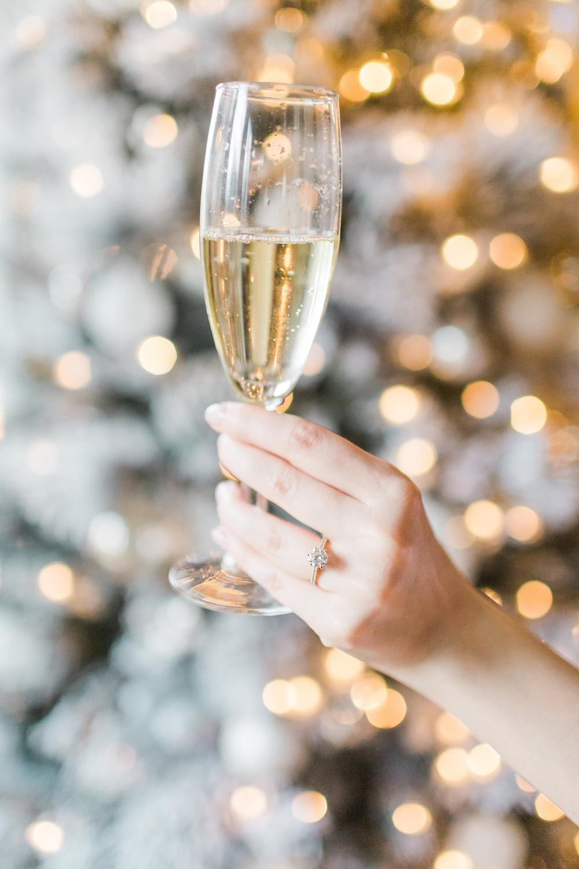 Christmas Wedding Champagne Toast