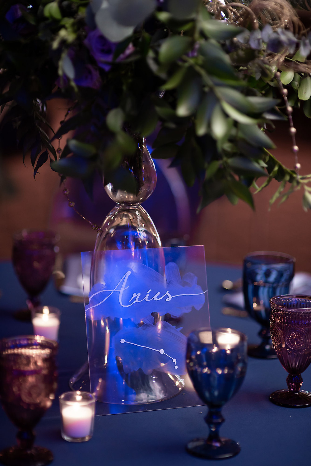 Celestial Wedding Table Numbers