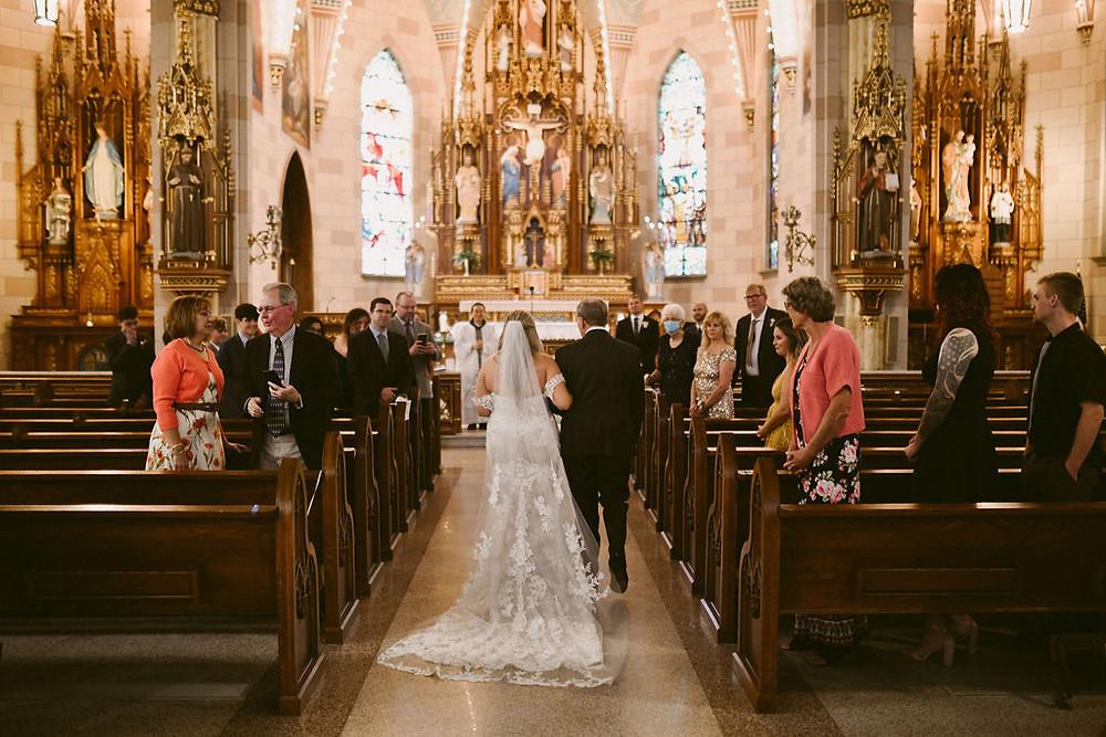 Fountain Square Catholic Wedding