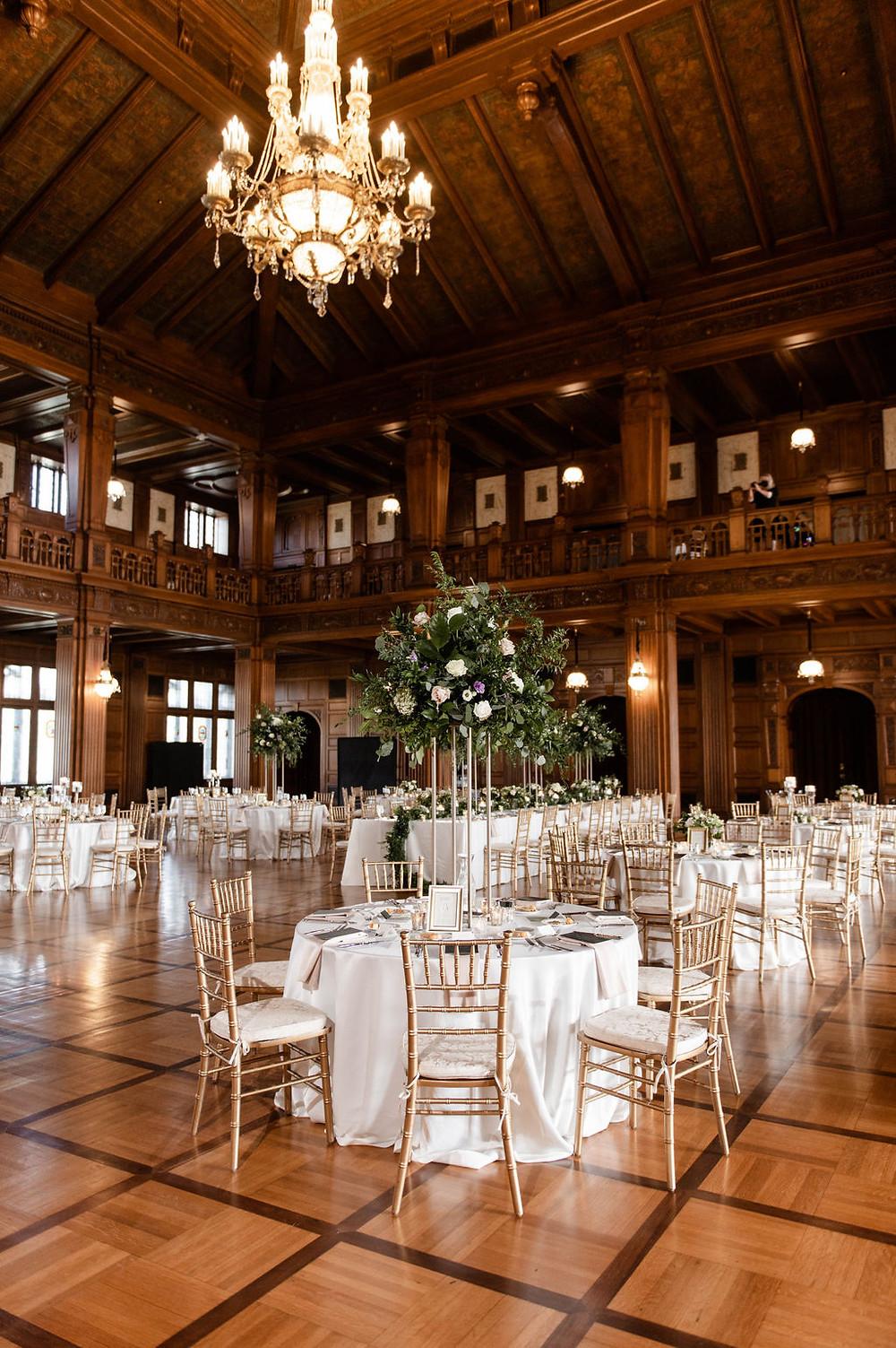 Gold Accent Wedding Reception