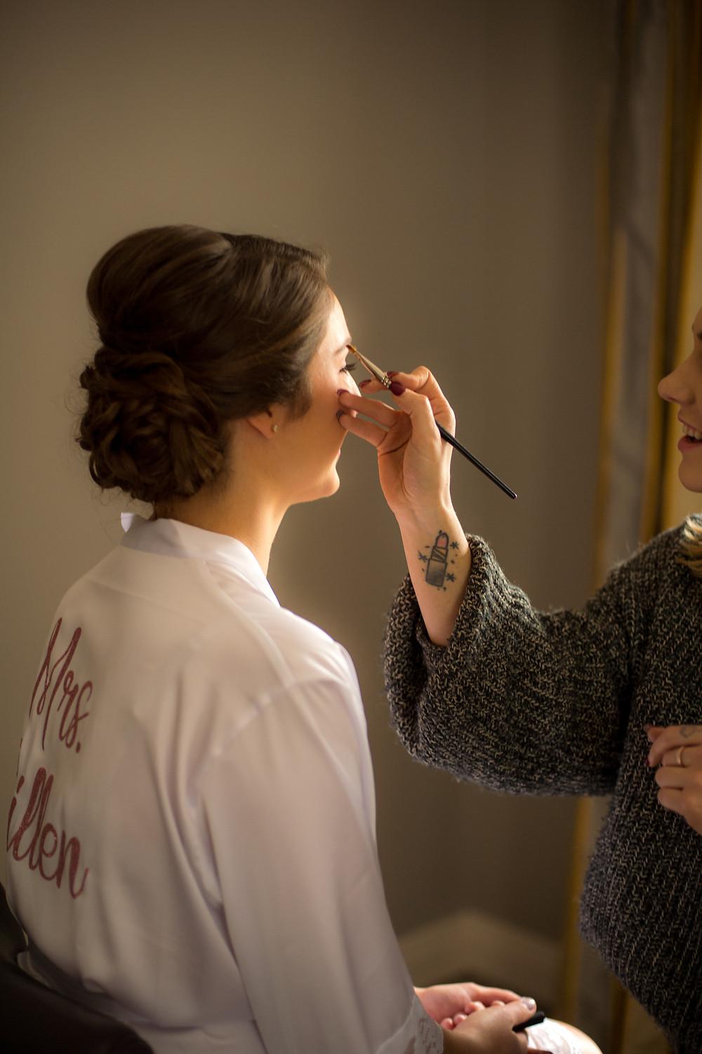 Kate Shaw Wedding Makeup