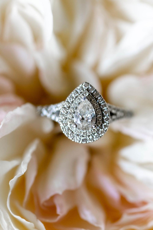 Pear Wedding Ring