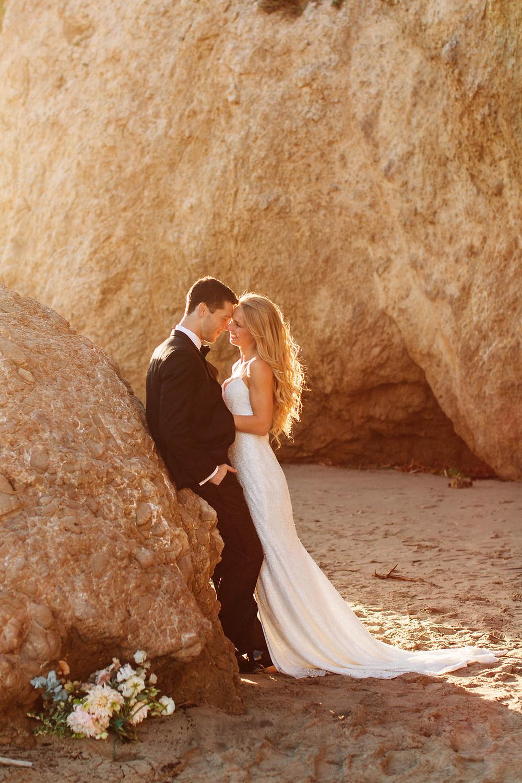Bride and Groom Beach Elopement