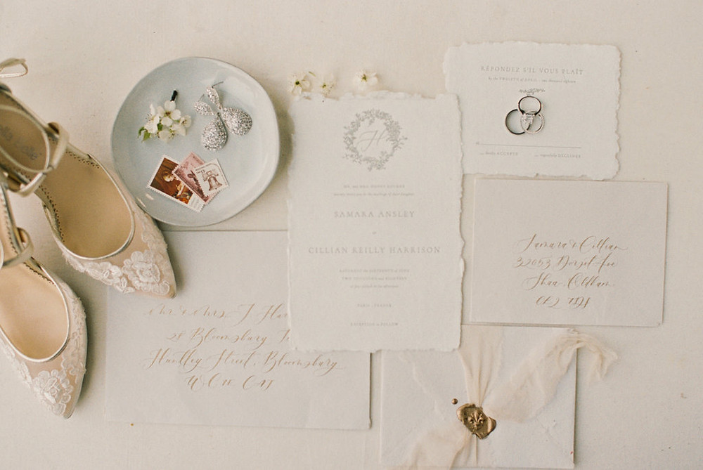 Hand Torn Wedding Day Paper