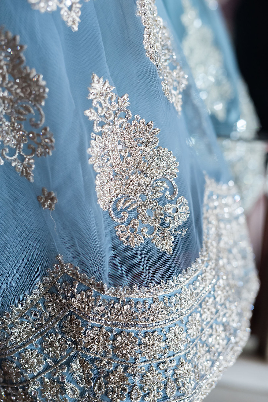 Blue Wedding Sari