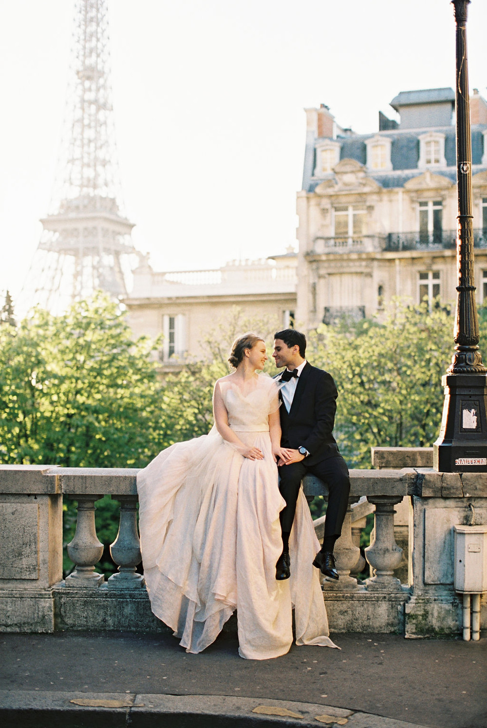 Eiffel Tower Bride and Groom