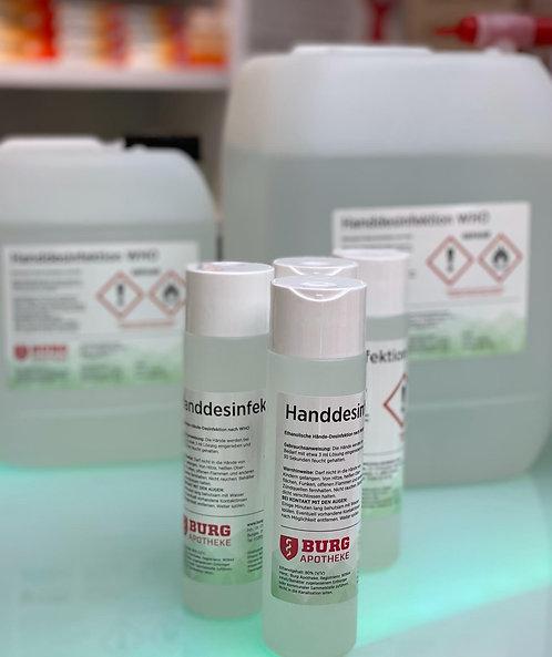 Händedesinfektion nach WHO, 250 ml