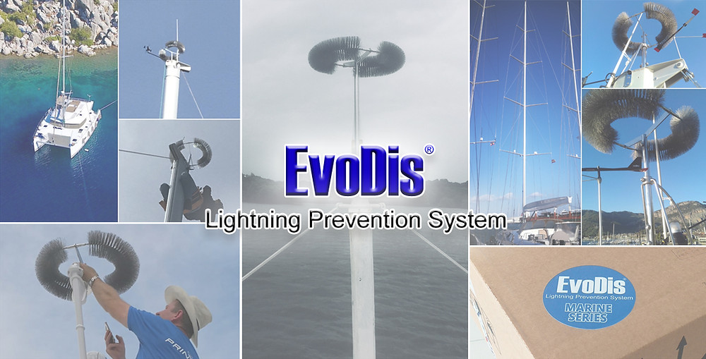 lightning protection for sailboats - EvoDis System Marine Series
