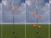 Lightning Protection for Wind Measurement Towers and Meteorological Observation Towers