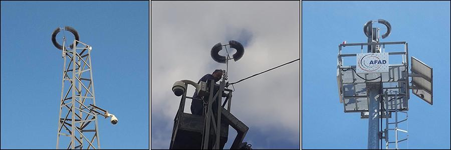 Protection contre la foudre les caméras de vidéosurveillance