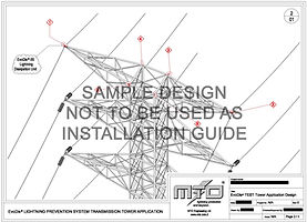 Transmission Tower Lightning Protection Sample Design