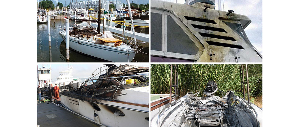 Lightning damage on boats