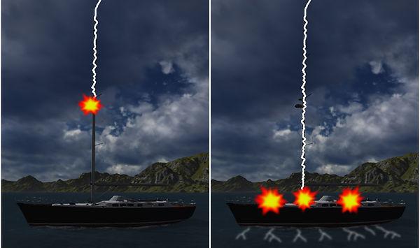 Marine lightning protection