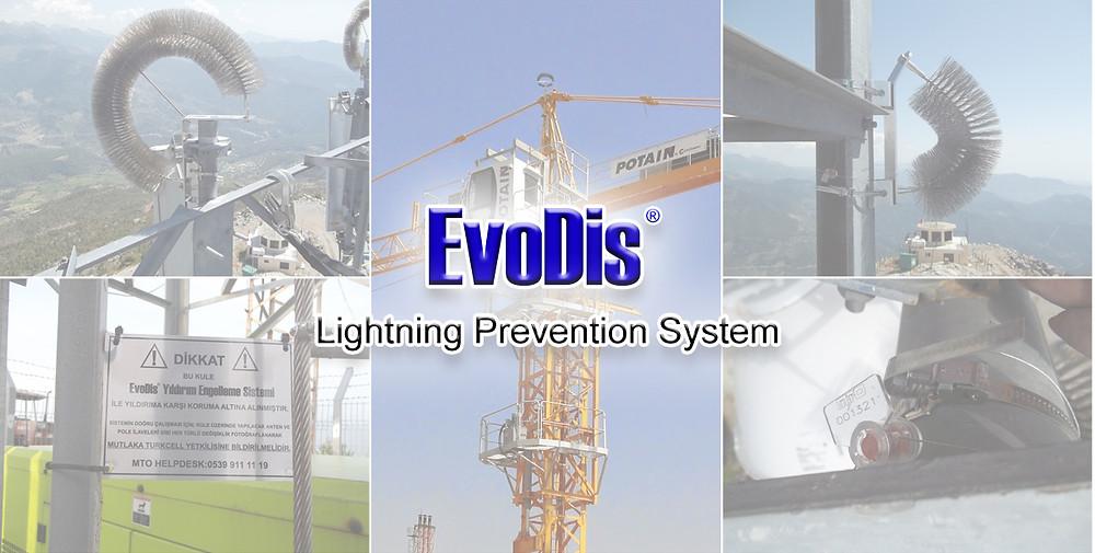 Tower crane lightning protection
