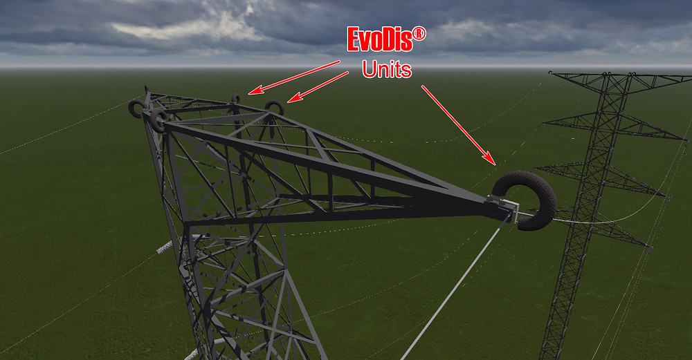 Lightning protection for power transmission lines