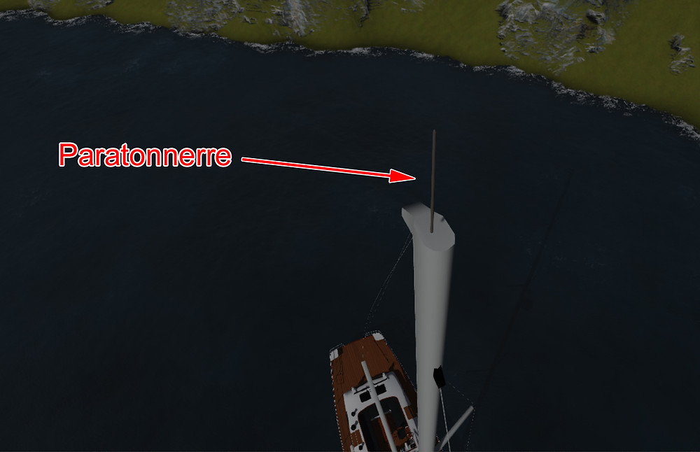 Protection contre la foudre pour les bateaux