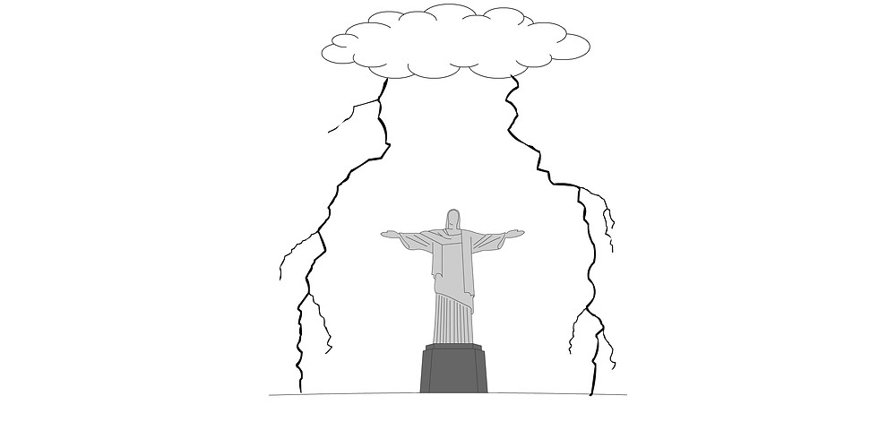 Lightning protection Christ the Redeemer Statue
