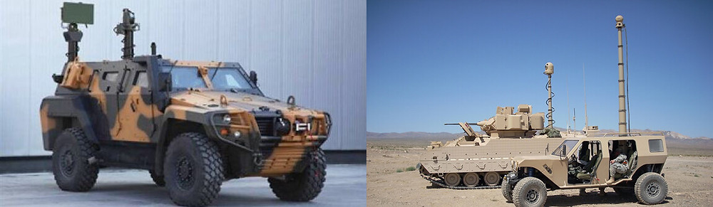 Telescopic Masts on Military Vehicle