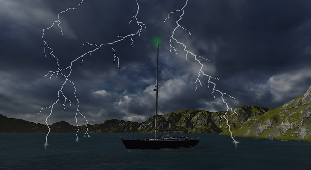 lightning protection for sailboats - marine lightning protection